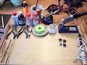 Создание украшений в технике Тиффани: про рабочее место, материалы и инструменты. Ярмарка Мастеров - ручная работа, handmade.