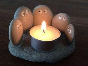 Идеи декора из речных или морских камней. Ярмарка Мастеров - ручная работа, handmade.