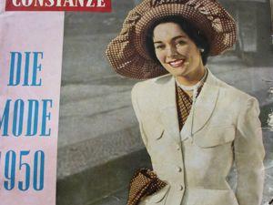 Constanze -mode -старый журнал  мод из Германии -1950. Ярмарка Мастеров - ручная работа, handmade.