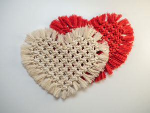 Салфетка-сердце в технике макраме своими руками. Ярмарка Мастеров - ручная работа, handmade.
