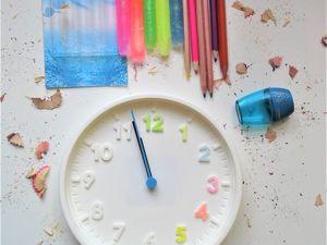 Декорируем настенные часы в детскую комнату. Ярмарка Мастеров - ручная работа, handmade.