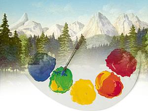 Цвет в пейзаже (видео - подсказка). Ярмарка Мастеров - ручная работа, handmade.