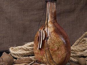 Декупаж бутылки своими руками — отличный подарок мужчине на 23 февраля. Ярмарка Мастеров - ручная работа, handmade.