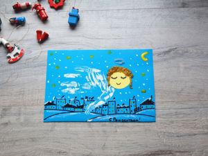 Рисуем рождественского ангела вместе с детьми. Ярмарка Мастеров - ручная работа, handmade.