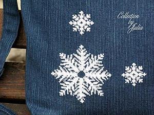 Как сделать вышивку на плотной ткани. Ярмарка Мастеров - ручная работа, handmade.