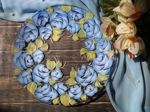 Painting Roses on Glass. Decorative Painting for Beginners. Livemaster - hecho a mano - handmade.