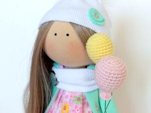 Вяжем крючком воздушный шарик для кукол. Ярмарка Мастеров - ручная работа, handmade.