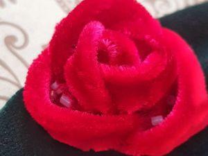 Вышиваем бархатную розу. Ярмарка Мастеров - ручная работа, handmade.