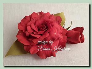 """Создание розы из фоамирана """"Вивьен"""". Ярмарка Мастеров - ручная работа, handmade."""