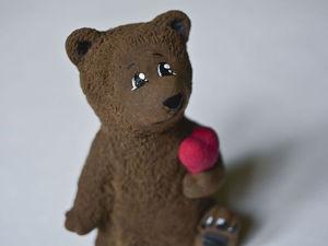 Мишка-романтик из полимерной глины: мастер-класс. Ярмарка Мастеров - ручная работа, handmade.