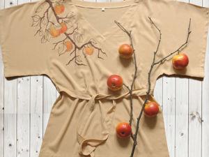 """Расписываем блузку """"Ветка яблони"""". Ярмарка Мастеров - ручная работа, handmade."""