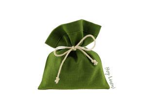 Зеленые льняные мешочки. Ярмарка Мастеров - ручная работа, handmade.
