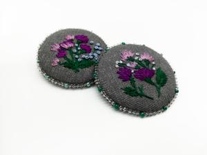 Видео-обзор брошей с ручной вышивкой. Ярмарка Мастеров - ручная работа, handmade.