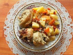 Тушеная в духовке курица в собственном соку с овощами. Ярмарка Мастеров - ручная работа, handmade.