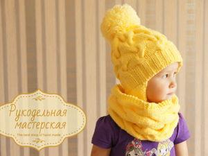 Детская шапка из Alize Happy baby soft. Ярмарка Мастеров - ручная работа, handmade.