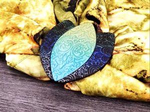 Создаем брошь для платка из полимерной глины FIMO. Ярмарка Мастеров - ручная работа, handmade.