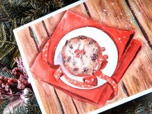 Рисуем сладкий кекс акварелью. Ярмарка Мастеров - ручная работа, handmade.