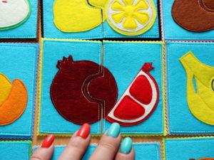 Комплект из пазлов-овощей и фруктов. Ярмарка Мастеров - ручная работа, handmade.