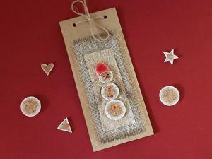 Изготавливаем новогодний крафт-пакет с декором из пробок: видео мастер-класс. Ярмарка Мастеров - ручная работа, handmade.