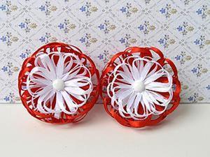 Делаем очаровательные бантики-цветочки Тенерифе из лент. Ярмарка Мастеров - ручная работа, handmade.