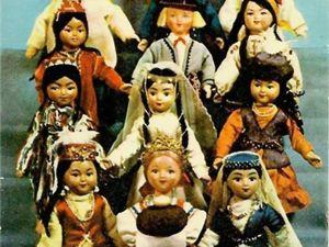 Куклы и дружба народов. Советские куклы в народных костюмах. Ярмарка Мастеров - ручная работа, handmade.