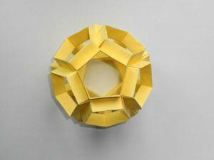 Собираем многогранник додекаэдр из бумаги. Ярмарка Мастеров - ручная работа, handmade.