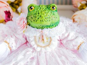 Принцесса Одри жаба, лягушка, авторская кукла, подарок любимой. Ярмарка Мастеров - ручная работа, handmade.