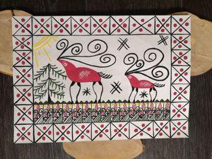 Мезенская роспись для начинающих. Мезенский лось. Ярмарка Мастеров - ручная работа, handmade.