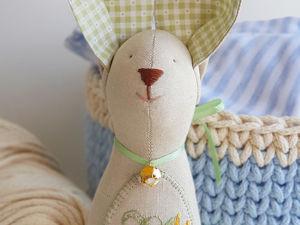 Зайчик — игрушка для самых маленьких. Ярмарка Мастеров - ручная работа, handmade.