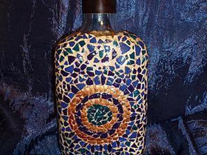 Декорируем бутылку в технике «мозаика из яичной скорлупы». Ярмарка Мастеров - ручная работа, handmade.