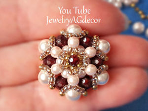 Making Brooch Element from Beads. Livemaster - handmade