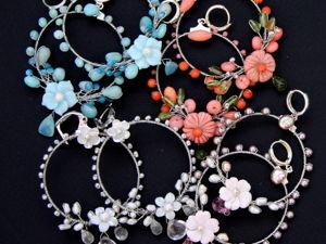 Новая коллекция  «Blossom»  серьги с натуральными камнями и жемчугом. Ярмарка Мастеров - ручная работа, handmade.