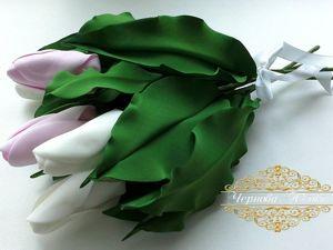 Интерьерные Тюльпаны из Фоамирана без Молда за 10 Минут. Ярмарка Мастеров - ручная работа, handmade.