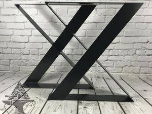 Опоры стола металлические Modern-X: 13400 рублей. Ярмарка Мастеров - ручная работа, handmade.