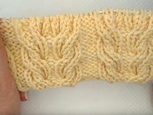 Вяжем вместе рельефный узор спицами «Косы». Ярмарка Мастеров - ручная работа, handmade.