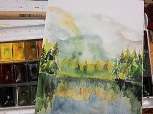 «Воспоминания»: рисуем картину акварелью. Ярмарка Мастеров - ручная работа, handmade.
