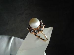 Видео: Кольцо  «Жемчуг» ,золото,жемчуг белый. Ярмарка Мастеров - ручная работа, handmade.