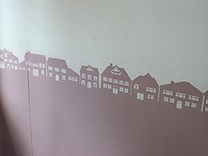 Роспись стен с помощью трафарета. Городской горизонт. Ярмарка Мастеров - ручная работа, handmade.