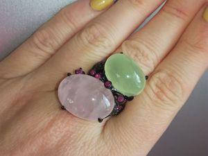 Акция! Кольцо  «Мятно-розовые сны». Ярмарка Мастеров - ручная работа, handmade.