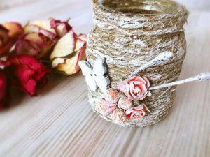 Декоративная мини-вазочка — легко и быстро. Ярмарка Мастеров - ручная работа, handmade.