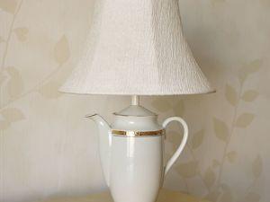 Настольная лампа из чайника или кофейника. Ярмарка Мастеров - ручная работа, handmade.
