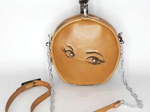 Кожаная сумочка-ракушка с вышивкой. Ярмарка Мастеров - ручная работа, handmade.