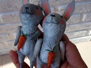 Зайцы-подвески. Ярмарка Мастеров - ручная работа, handmade.