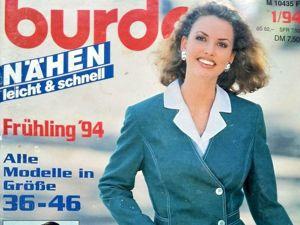 Burda  «шИть легко и быстро» , № 1/94. Немецкое Издание. Содержание. Ярмарка Мастеров - ручная работа, handmade.