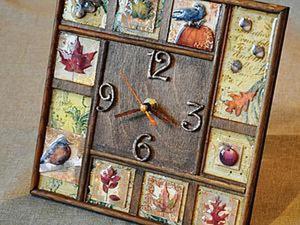 Мастер-класс: декорирование часов «Золотая осень». Ярмарка Мастеров - ручная работа, handmade.