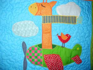 Что-то в Африку потянуло:) Полетели? Детское лоскутное одеяло — покрывало — плед  «Африка»  — детская комната в стиле пэчворк!. Ярмарка Мастеров - ручная работа, handmade.