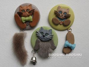 Делаем милые броши-значки с котиками. Ярмарка Мастеров - ручная работа, handmade.