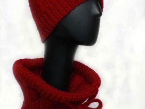 Распродажа вязаных шапок и шарфов. -50% на готовые работы. Ярмарка Мастеров - ручная работа, handmade.