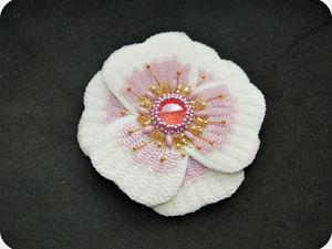 Создаем брошь-цветок «Аврора». Ярмарка Мастеров - ручная работа, handmade.