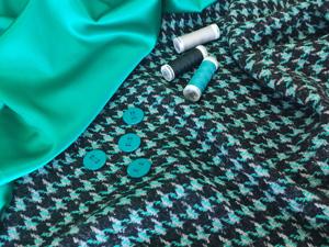 Ткань костюмная Pied-de-poule. Ярмарка Мастеров - ручная работа, handmade.